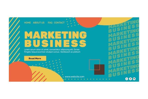 Página de inicio de marketing empresarial vector gratuito