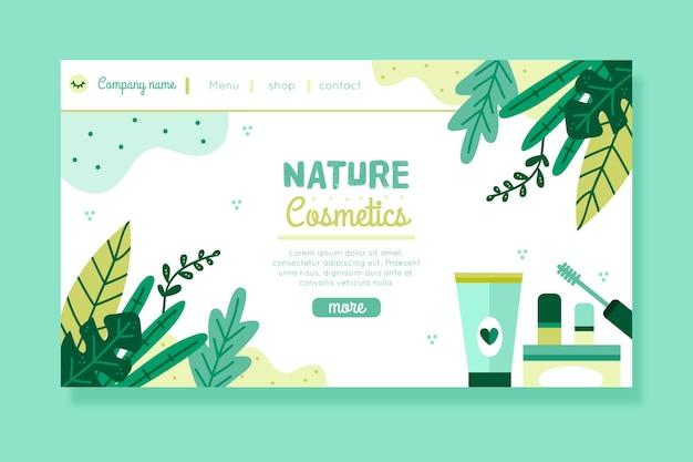 Página de inicio de nature cosmetics Vector Premium