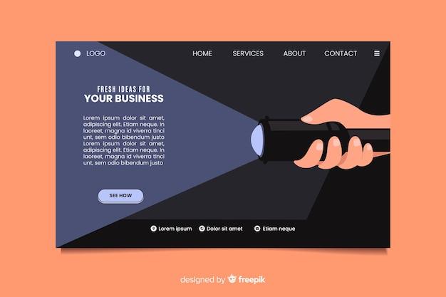Página de inicio de negocios de ideas frescas vector gratuito