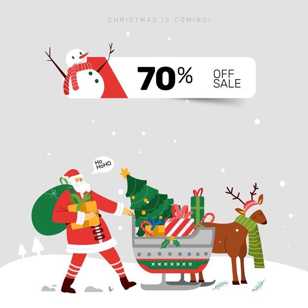 Página de inicio de página de banner de venta de navidad de santa ...