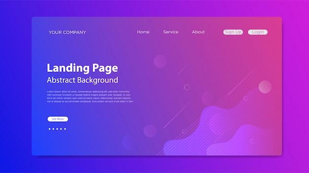 Página de inicio del sitio web con composición de formas fluidas Vector Premium