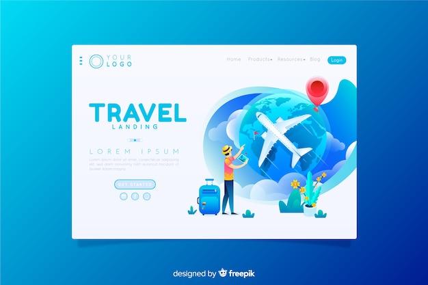 Página de inicio de viaje vector gratuito