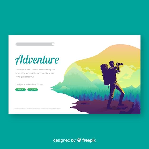 Página de inicio de viajes vector gratuito