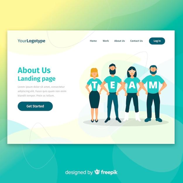 Página de inicio vector gratuito
