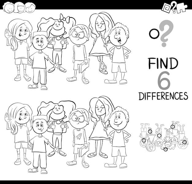 Página para colorear actividad de diferencia | Descargar Vectores ...