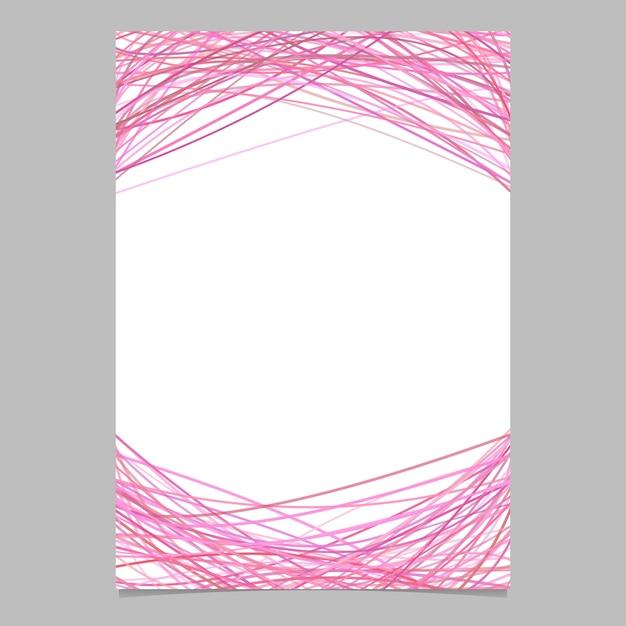 Página plantilla con líneas arqueadas al azar en tonos rosas ...