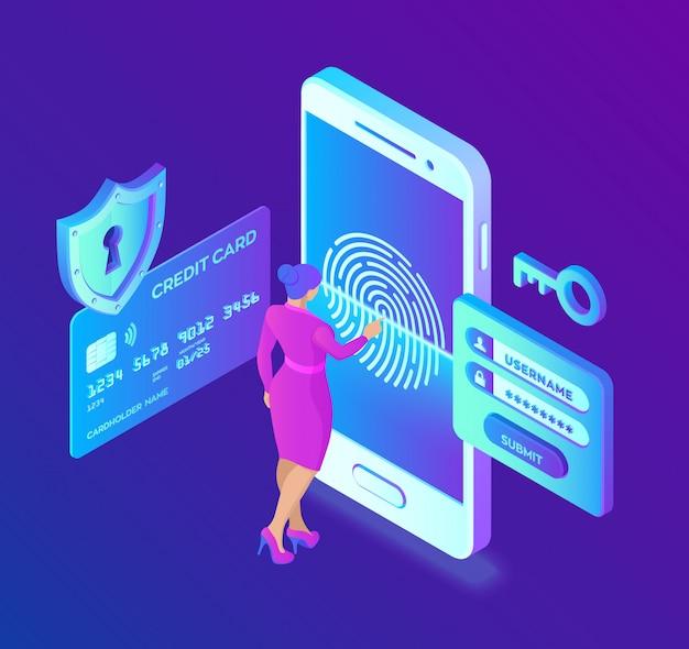 Pagos móviles. protección de datos . protección de datos personales. la verificación de la tarjeta de crédito y los datos de acceso al software son confidenciales. Vector Premium