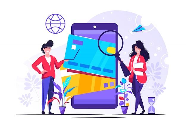 Pagos móviles para web Vector Premium