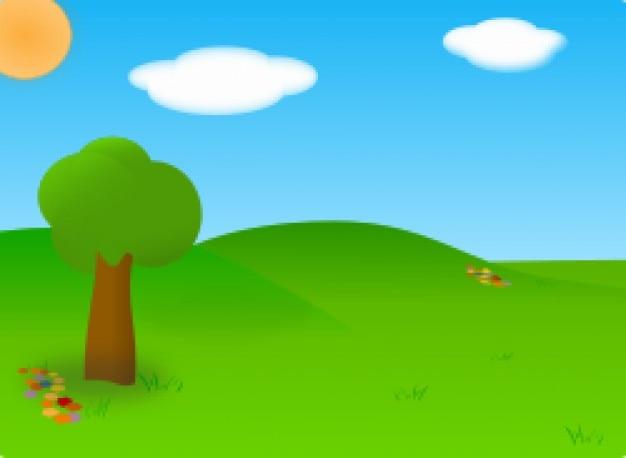 paisaje de dibujos animados | Descargar Vectores gratis