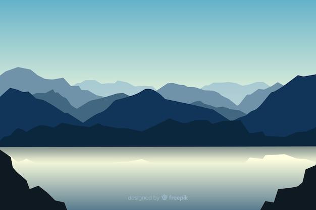 Paisaje de montañas hermosa vista vector gratuito