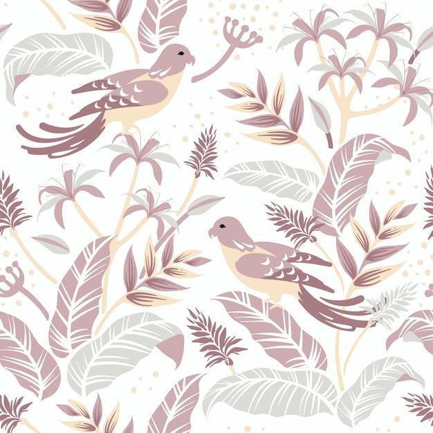 Pájaros en el diseño de la naturaleza. vector gratuito