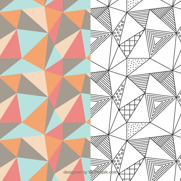 Pakc de patrón geométrico Vector Premium