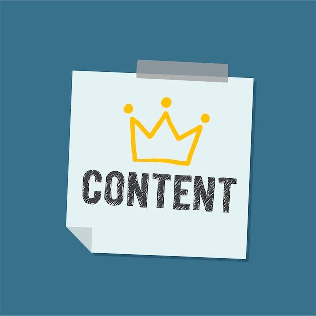 Palabra de contenido en la ilustración de la nota vector gratuito