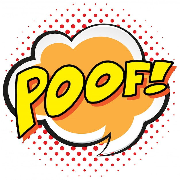Palabras De Expresión Para Poof Vector Premium