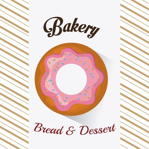 Panadería, postre y diseño de barra de leche. vector gratuito