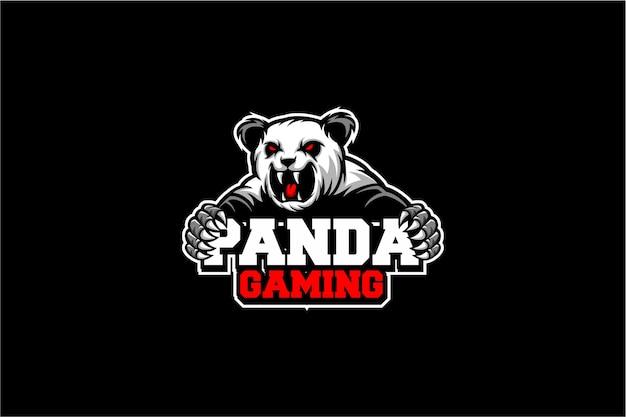 Panda gaming logo Vector Premium