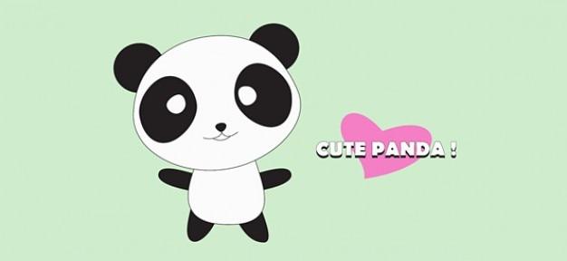 panda lindo personaje de dibujos animados | Descargar Vectores gratis