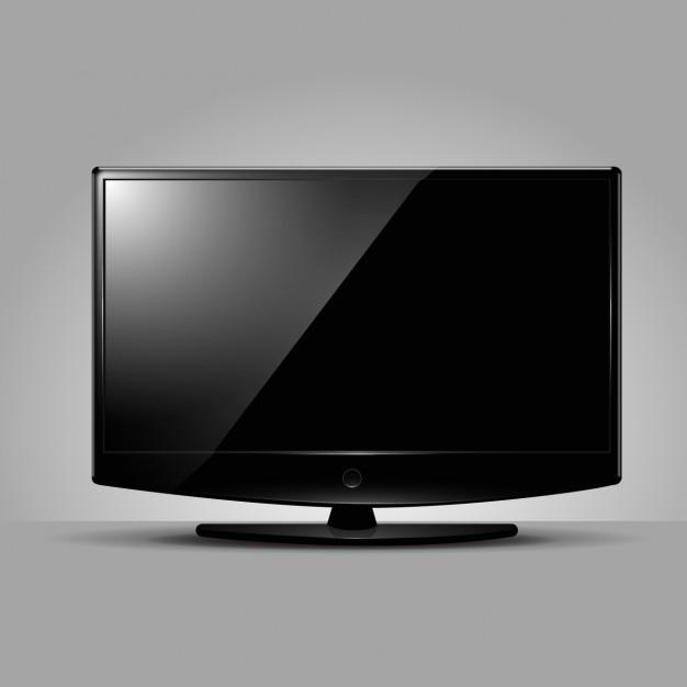 Pantala de televisor moderno vector gratuito