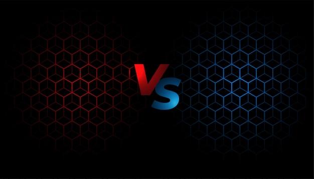 Pantalla de batalla versus diseño de plantilla de fondo vs vector gratuito