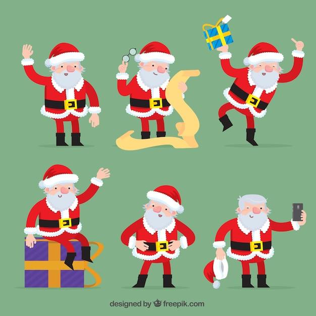 Fotos Simpaticas De Papa Noel.Papa Noel Simpatico En Diferentes Posturas Descargar