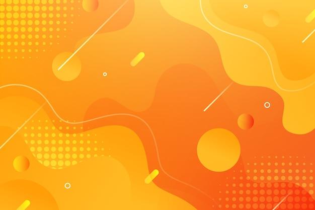 Papel pintado de estilo fluido con elementos de memphis vector gratuito