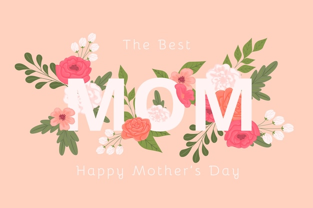 Papel pintado floral del día de la madre vector gratuito