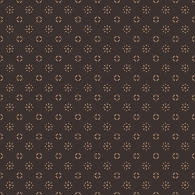Papel pintado de fondo clásico tradicional batik de indonesia sin patrón en color marrón vintage Vector Premium