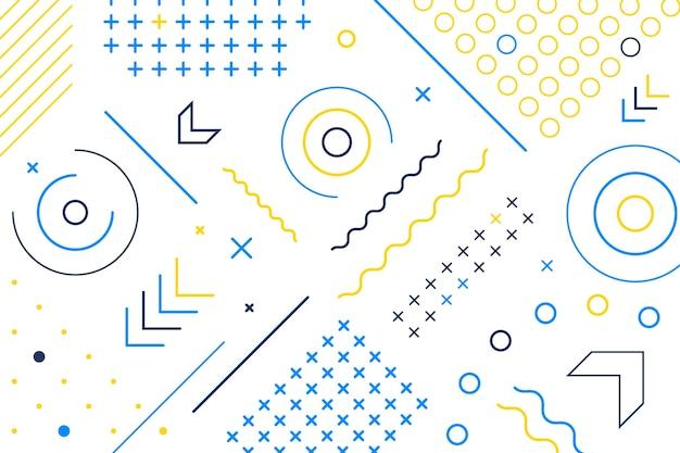 Papel pintado de formas geométricas de diseño plano vector gratuito