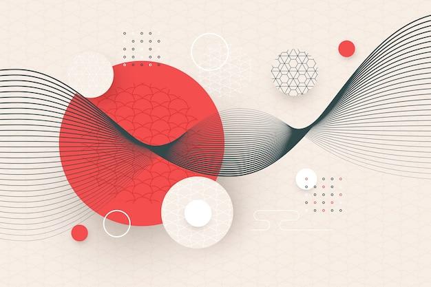 Papel pintado geométrico en estilo japonés vector gratuito