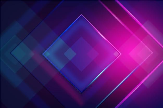 Papel pintado de luces de neón de formas geométricas vector gratuito