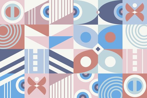 Papel pintado mural geométrico en colores pastel vector gratuito
