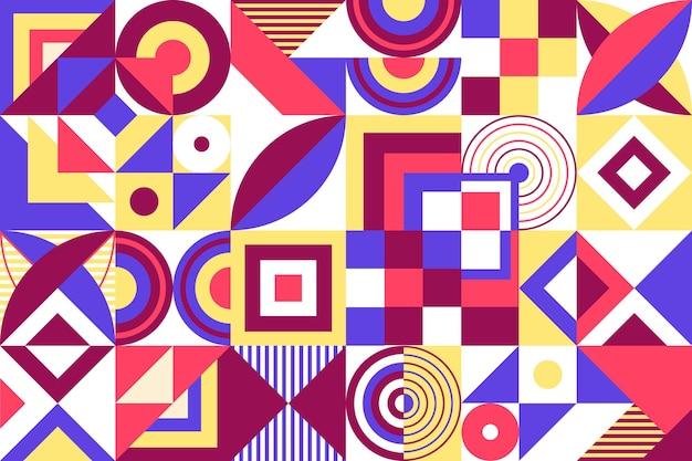 Papel pintado mural geométrico vector gratuito