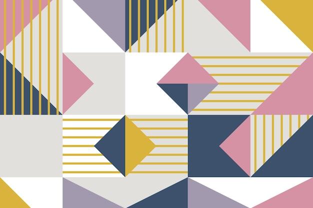 Papel pintado mural geométrico Vector Premium