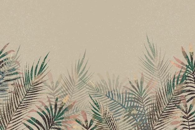 Papel pintado mural tropical con espacio vacío Vector Premium