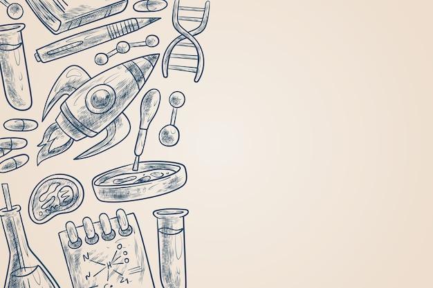 Papel pintado vintage de educación científica vector gratuito