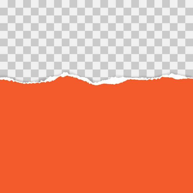 Papel rasgado rojo. ilustración con sombras Vector Premium