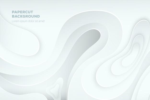 Papel tapiz abstracto blanco en estilo de papel 3d vector gratuito