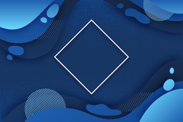 Papel tapiz azul clásico abstracto Vector Premium