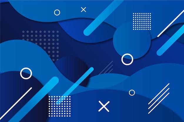 Papel tapiz azul clásico abstracto vector gratuito