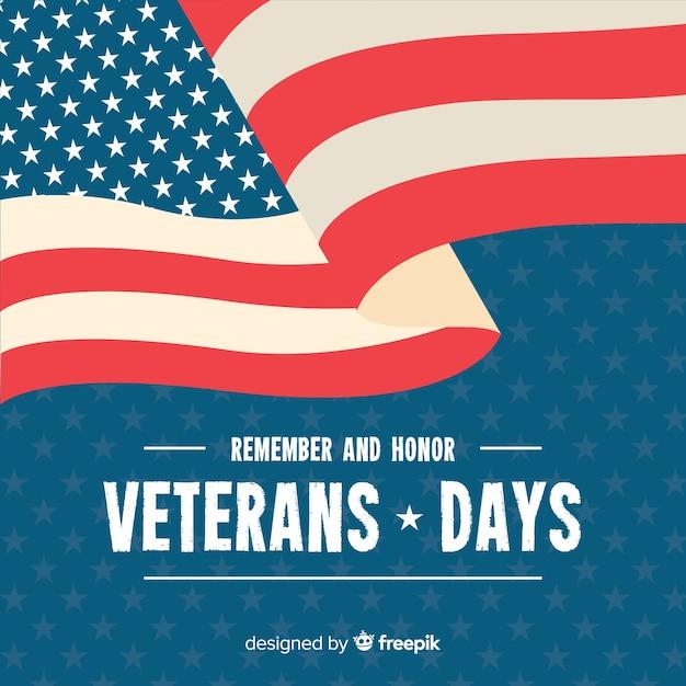 Papel tapiz de diseño plano del día de los veteranos vector gratuito