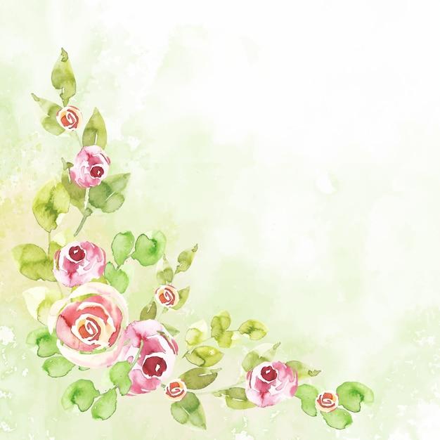 Papel tapiz floral acuarela en colores pastel vector gratuito