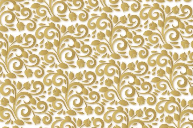 Papel tapiz de flores ornamentales abstractas vector gratuito