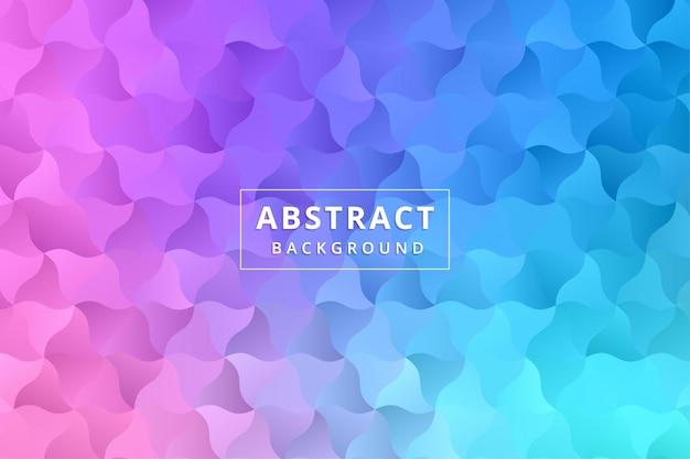 Papel tapiz de fondo abstracto. hexágono de polígono colorido vector premium Vector Premium