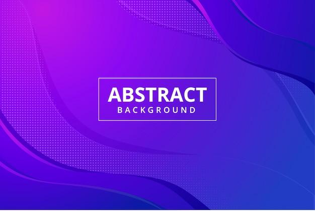 Papel tapiz de fondo abstracto moderno en color rosa púrpura azul vibrante Vector Premium