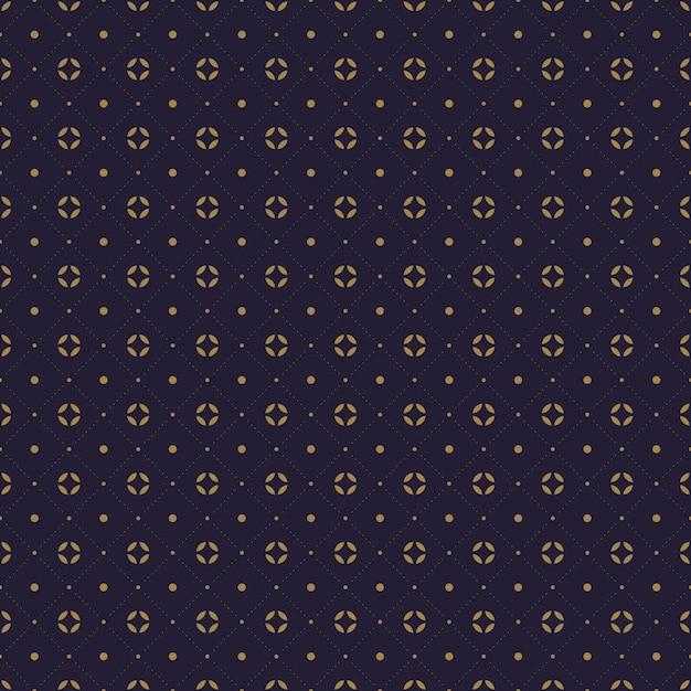Papel tapiz de fondo de patrones sin fisuras batik indonesio tradicional moderno en color azul marino de lujo Vector Premium