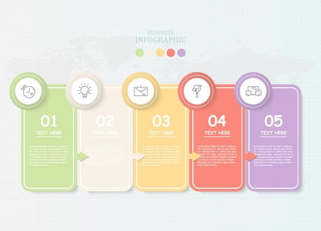 Papel para texto infográfico para empresas Vector Premium