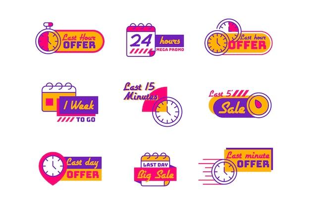 Paquete de banner de cuenta regresiva de ventas vector gratuito