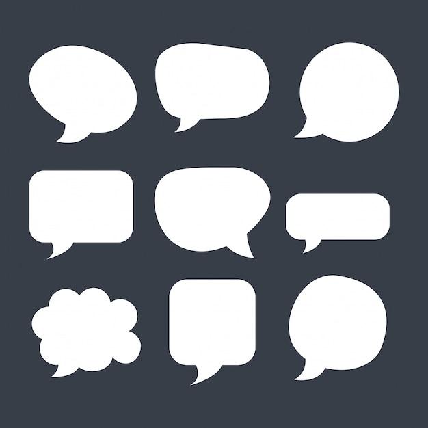 Paquete de burbujas de discurso vector gratuito