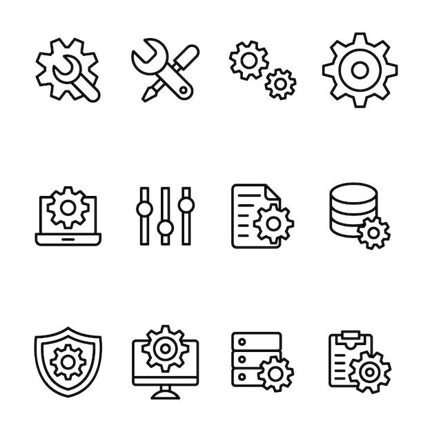 Paquete de configuración y configuración Vector Premium