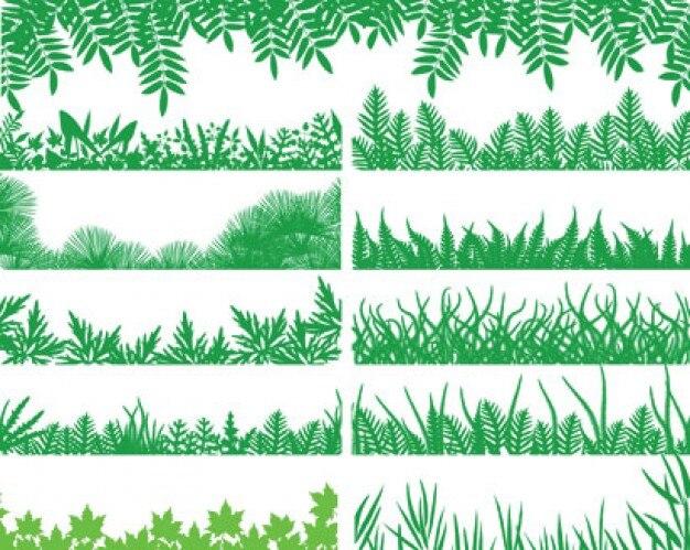 paquete de hierba verde de vectores Vector Gratis